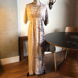 Lovestitch Open Back Maxi Kimono Dress
